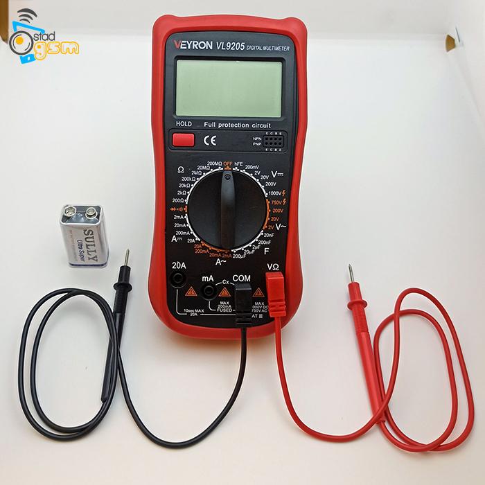 مولتی متر دیجیتال ویرون مدل VL-9205A